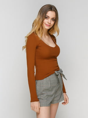 Пуловер рыжего цвета   4561956