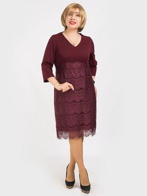 Платье бордовое | 4175387