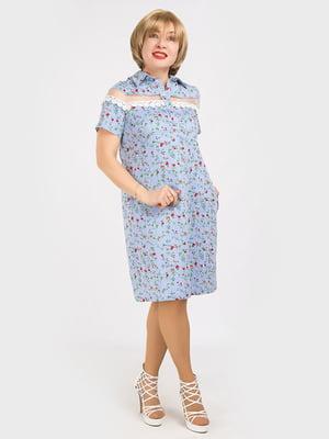 Платье голубое | 5095492