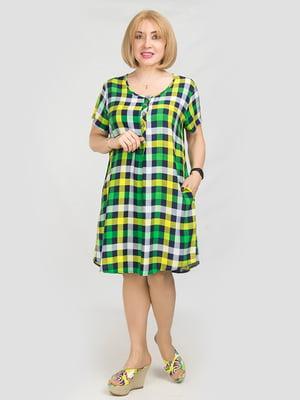 Сукня лимонного кольору в клітинку | 5095512