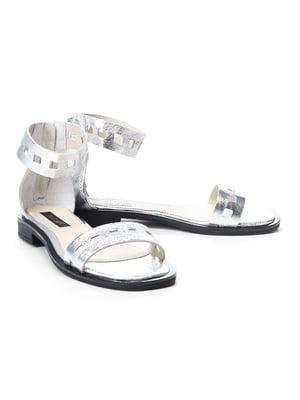 Сандалії сріблясті | 5089834