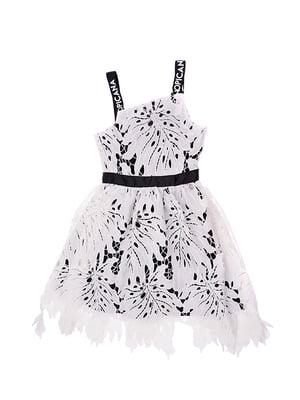 Сукня біло-чорна | 5096618