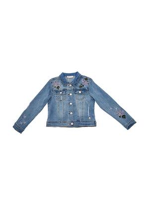 Куртка блакитна джинсова | 5096687