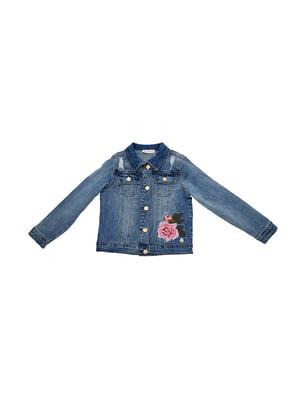 Куртка блакитна джинсова | 5096692
