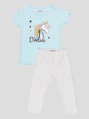 Комплект: футболка и леггинсы | 5089714