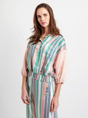 Блуза різнобарвна смугаста   5096406