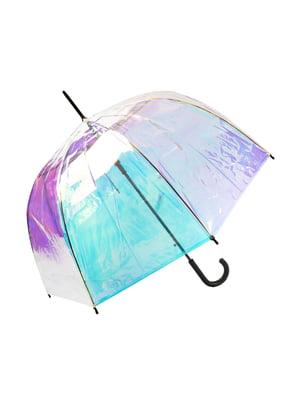Зонт-полуавтомат фиолетово-голубой | 5087453