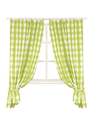 Комплект штор «Кантрі» зелена (250х200 см) | 5099017