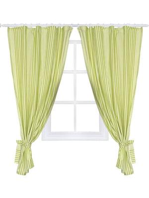 Комплект штор «Кантрі» зелена (250х200 см) | 5099019