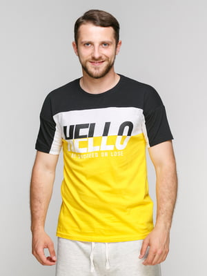 Футболка черно-желтая | 5075364