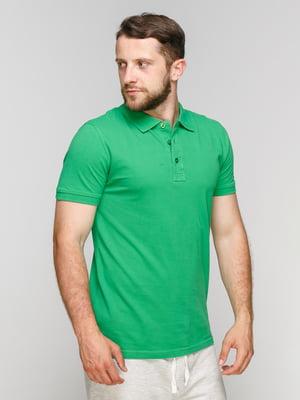 Футболка-поло зелена | 5061952
