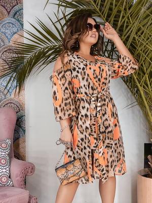 Платье анималистичной расцветки   5099378