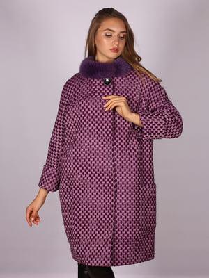 Пальто розовое в принт | 5099920