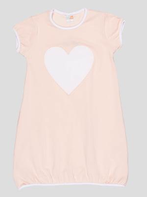 Сукня бежева з принтом | 5089920