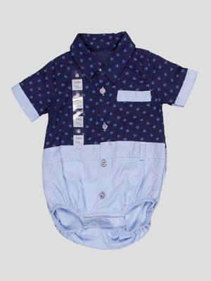 Боді синьо-блакитне з принтом | 5089928
