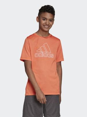 Футболка оранжевая с принтом | 5085634