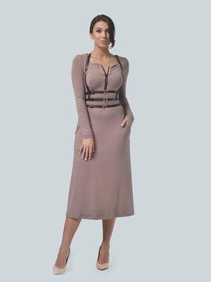 Сукня кольору кави | 4529476