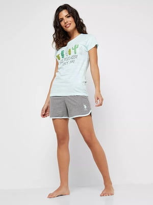 Піжама: футболка та шорти | 5100980