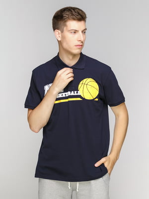 Футболка-поло темно-синя | 5094338