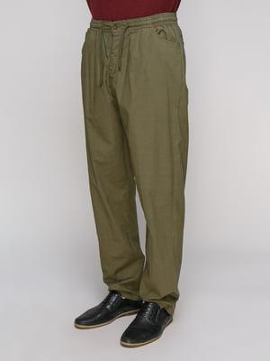Штани кольору хакі | 5094346