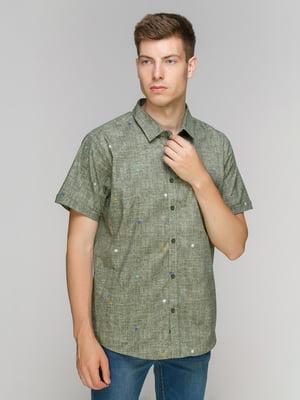 Сорочка темно-зелена | 5086431