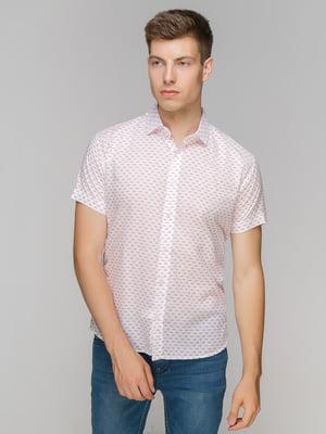 Сорочка біла в принт | 5086489