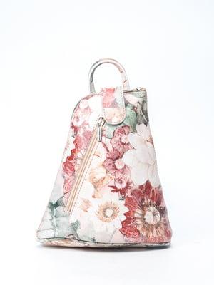 Рюкзак в квітковий принт | 5096801