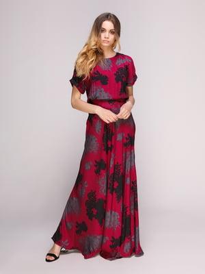 Платье красное в принт | 5092117