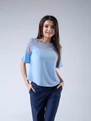Блуза блакитна | 5102626