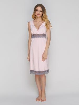 Рубашка ночная розовая | 5096304