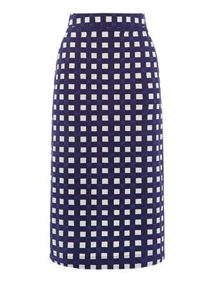 Юбка синяя в клетку - WareHouse - 5102987