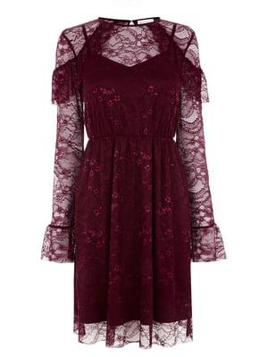 Платье бордовое - WareHouse - 5103018