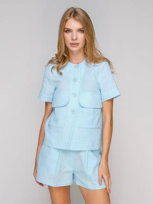 Блуза голубая | 5102092