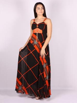 Платье черное в принт | 5103156