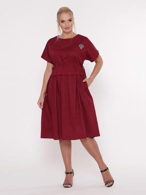 Платье бордовое   5103809