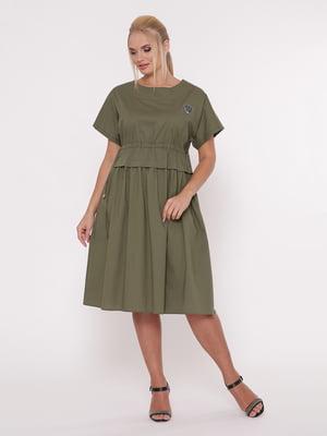 Платье цвета хаки   5103810