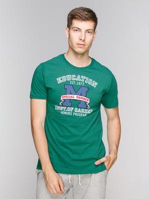Футболка зелена з принтом   5082319
