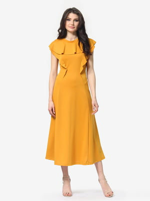Платье горчичного цвета | 5104841