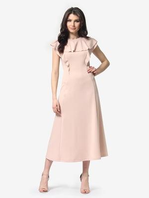 Сукня кольору пудри | 5104849