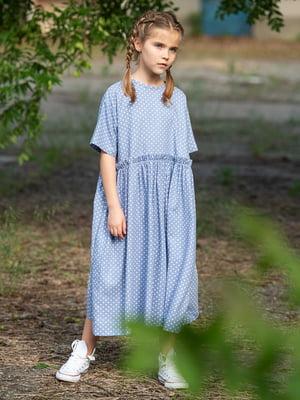 Платье голубое в горох | 5104922