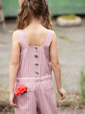 Комбінезон рожевий в смужку | 5104927