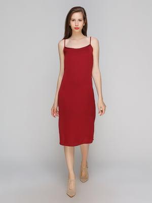 Платье бордовое | 4563146