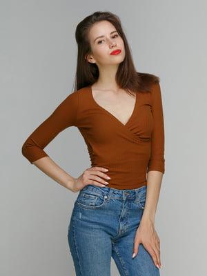 Пуловер коричневый   3222676