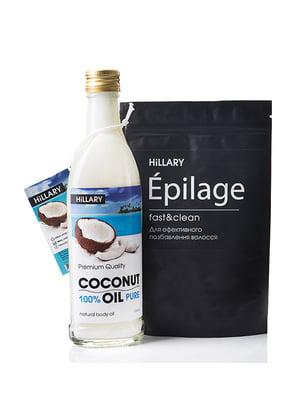 Набор: рафинированное кокосовое масло (250 мл) и гранулы для эпиляции (100 г) | 5105902
