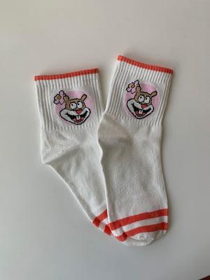 Носки белые с принтом | 5106896