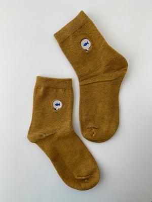 Шкарпетки жовті з рисунком | 5106929