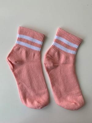 Носки розовые в полоску | 5107022