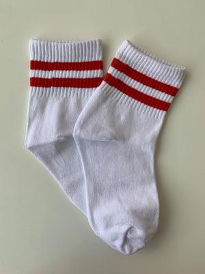 Носки белые в полоску | 5107030