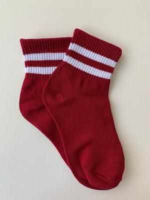 Носки бордовые в полоску | 5107031