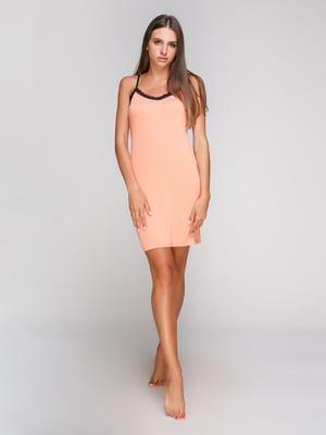 Рубашка ночная персиковая | 5103490